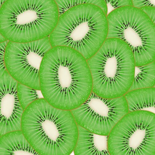 kiwi pattern illustration